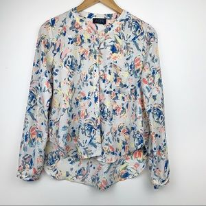 ASTR Anthropologie Water Painting Floral Blouse S